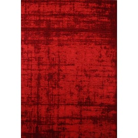 tapis tendance de salon rouge plat lounge - Tapis De Salon Rouge