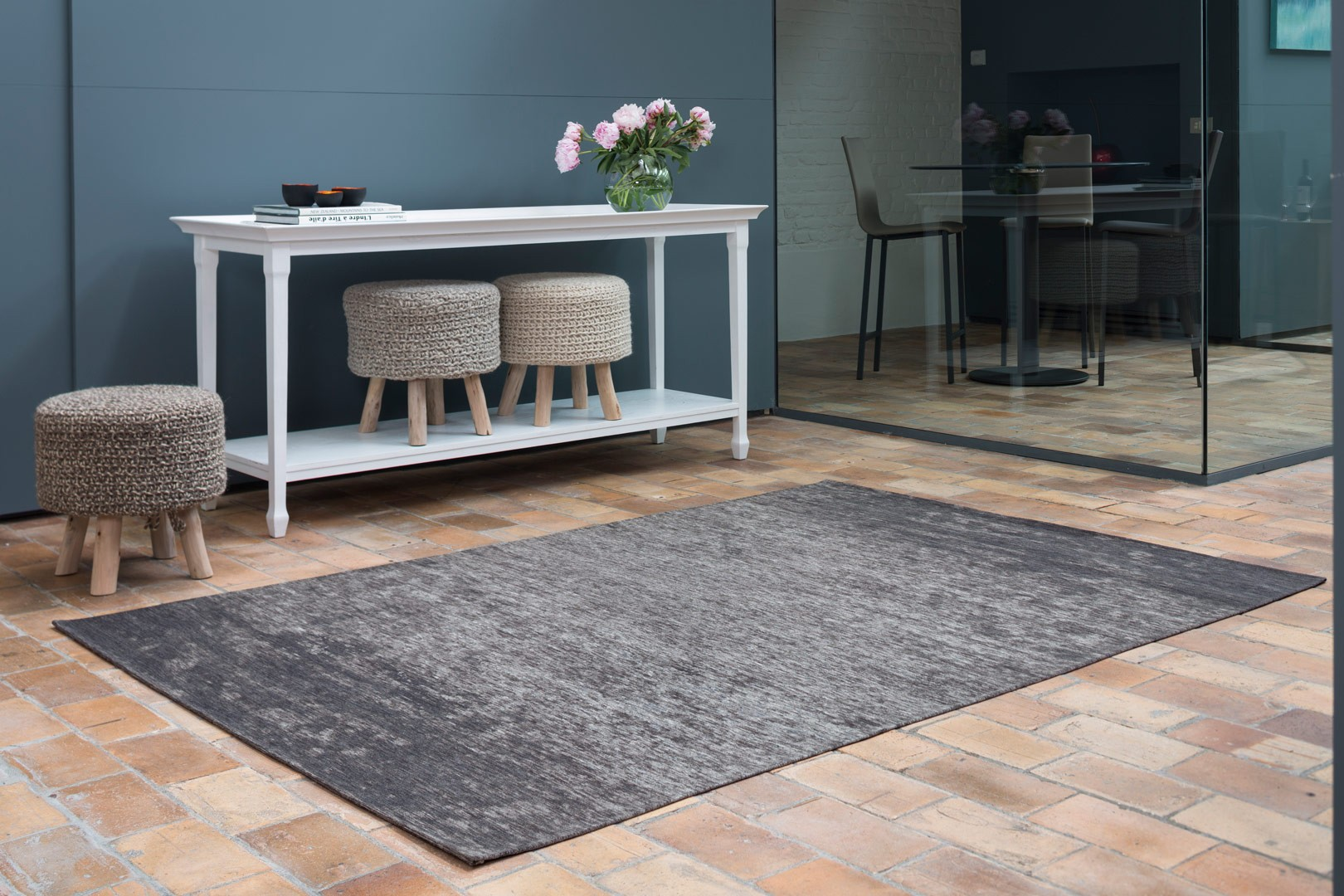 tapis moderne d 39 int rieur plat gris transit. Black Bedroom Furniture Sets. Home Design Ideas
