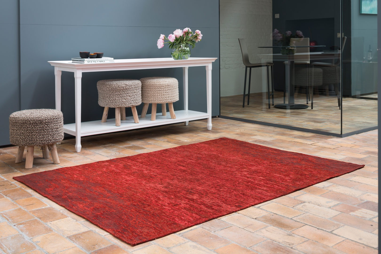 tapis moderne d 39 int rieur plat rouge transit. Black Bedroom Furniture Sets. Home Design Ideas