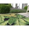 Tapis extérieur et intérieur floral vert Botanica