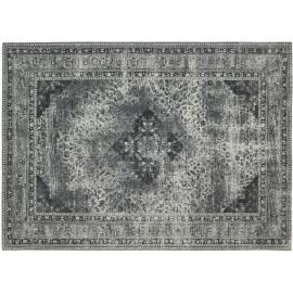 Tapis style oriental en coton gris Sarouk