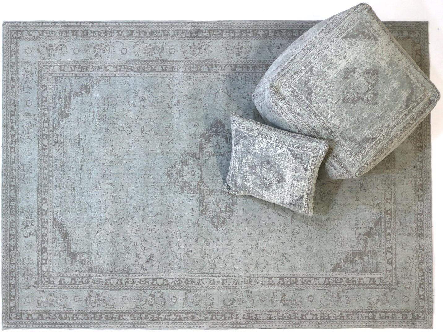 Tapis Style Oriental En Coton Argent Pastel Sarouk