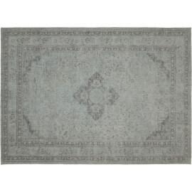 Tapis style oriental en coton argenté pastel Sarouk