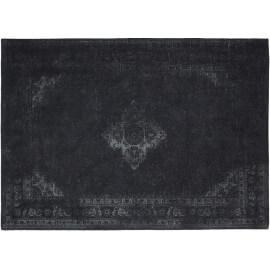 Tapis style oriental en coton noir Sarouk Shades