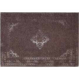 Tapis style oriental en coton parme Sarouk Shades