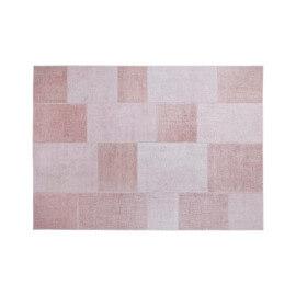 Tapis effet patchwork plat vieux rose Moods