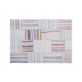 Tapis effet patchwork plat multicolore blanc Moods