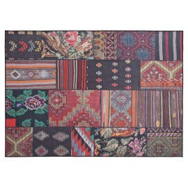 Tapis effet patchwork plat mix coloré Moods