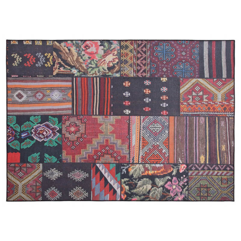 tapis effet patchwork plat mix color moods. Black Bedroom Furniture Sets. Home Design Ideas