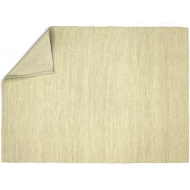 Tapis d'Inde blanc naturel en laine et coton Darfield