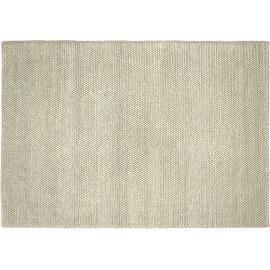 Tapis naturel épais en laine et coton blanc Newton