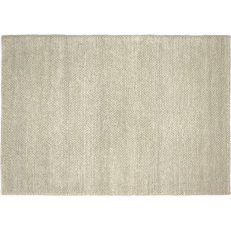 tapis naturel pais en laine et coton blanc newton - Tapis Blanc