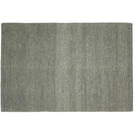 Tapis naturel épais en laine et coton gris Newton