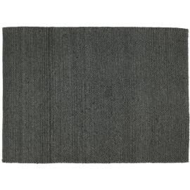 Tapis naturel épais en laine et coton anthracite Newton