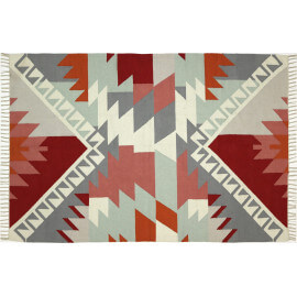 Tapis en coton avec franges plat multicolore Jaipur