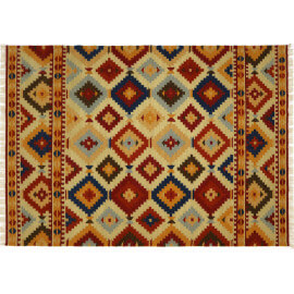 Tapis style kelim plat multicolore Udaipur