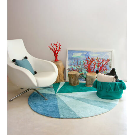 Tapis rond style scandinave design Geometric Lorena Canals