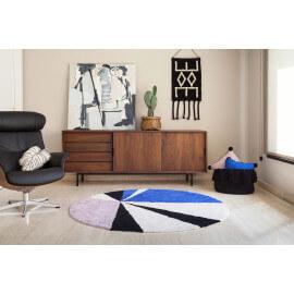 tapis de diam tre 160 cm des tapis ronds tendances de. Black Bedroom Furniture Sets. Home Design Ideas