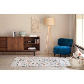 Tapis moderne multicolore en coton Terrazzo Lorena Canals