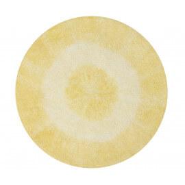 Tapis rond pour enfant lavable en machine jaune Tie-Dye Lorena Canals