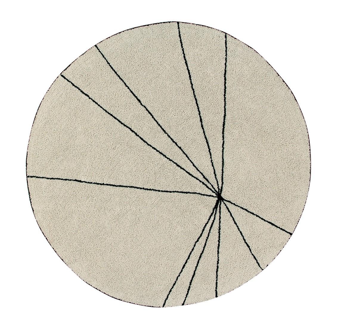 Tapis géométrique rond Trace Lorena Canals