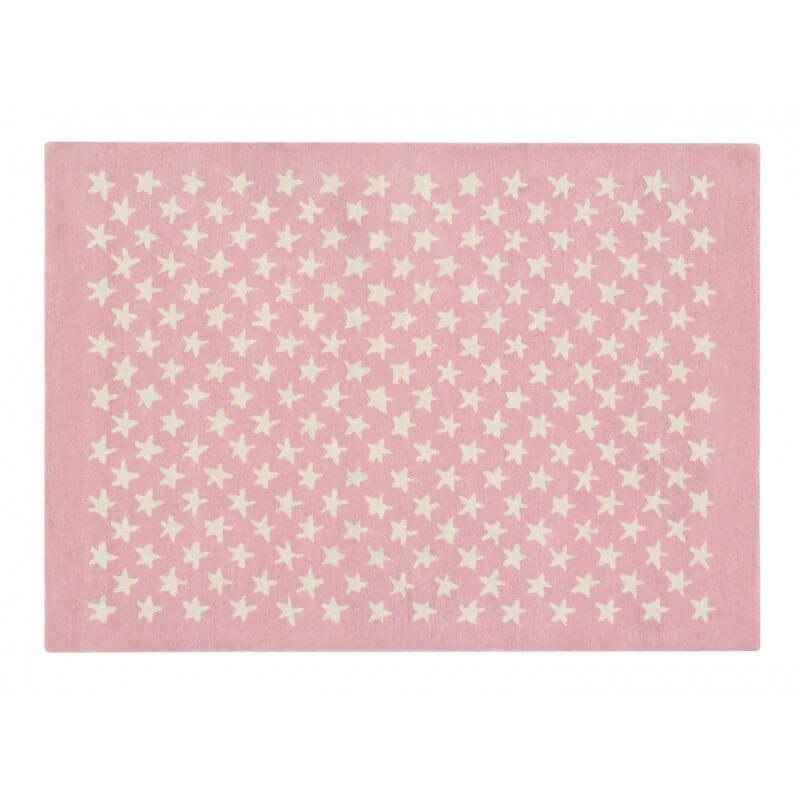 tapis chambre enfant laine et coton rose et beige little star lorena canals. Black Bedroom Furniture Sets. Home Design Ideas
