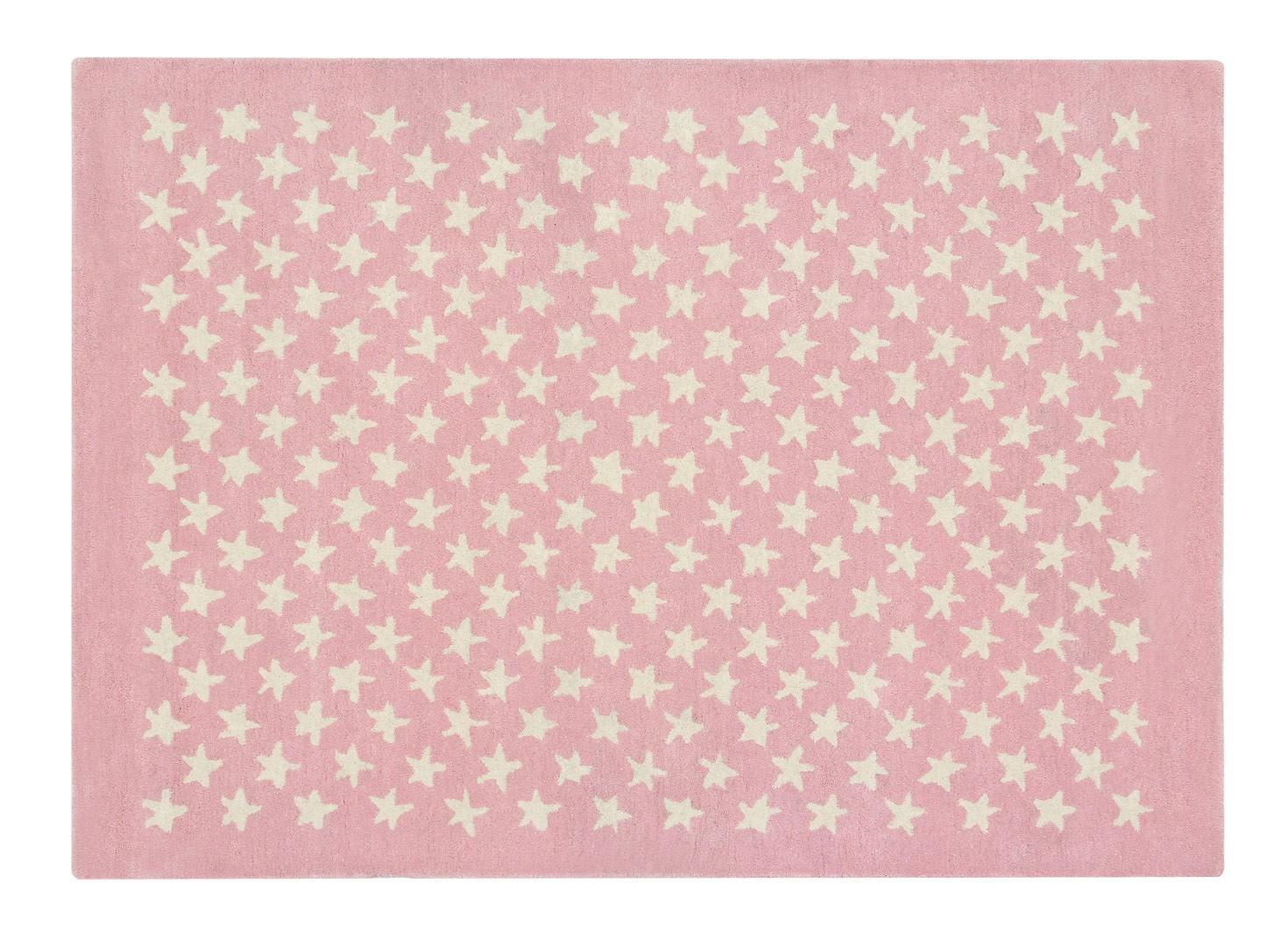 Tapis chambre enfant laine et coton Little Star Lorena Canals