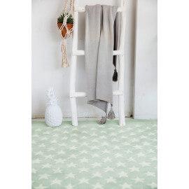 Tapis chambre enfant laine et coton menthe Little Star Lorena Canals