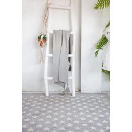 Tapis chambre enfant laine et coton gris clair Little Star Lorena Canals