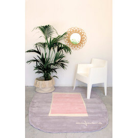 Tapis design pour salon rose Lake Lorena Canals
