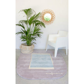 Tapis design pour salon bleu Lake Lorena Canals