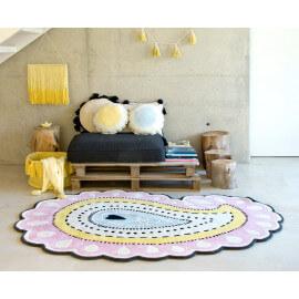 Tapis forme Paisley multicolore en laine et coton Gita Lorena Canals