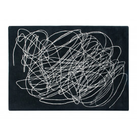 Tapis rayé moderne Scribble Lorena Canals