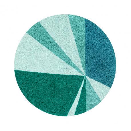 Tapis rond style scandinave design vert Geometric Lorena Canals
