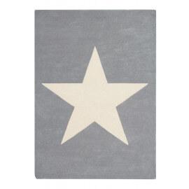 Tapis en laine et coton gris clair enfant Big Star Lorena Canals