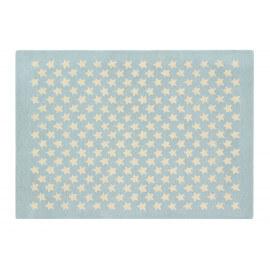 Tapis chambre enfant laine et coton bleu Little Star Lorena Canals