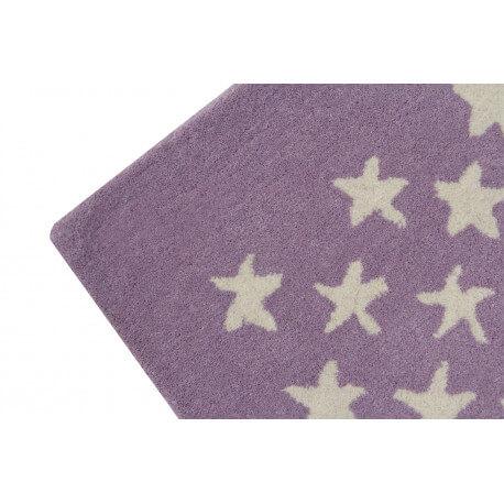Tapis chambre enfant laine et coton rose Little Star Lorena Canals