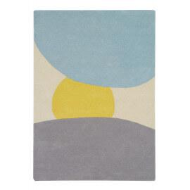 Tapis moderne en laine et coton multicolore Sunrise Lorena Canals