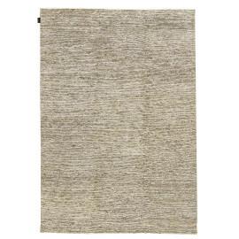 Tapis en soie de bambou et laine filée nouée main gris beige Majectic Angelo