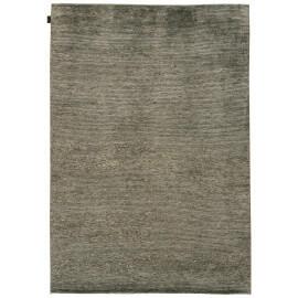 Tapis en soie de bambou et laine filée nouée main gris Majectic Angelo