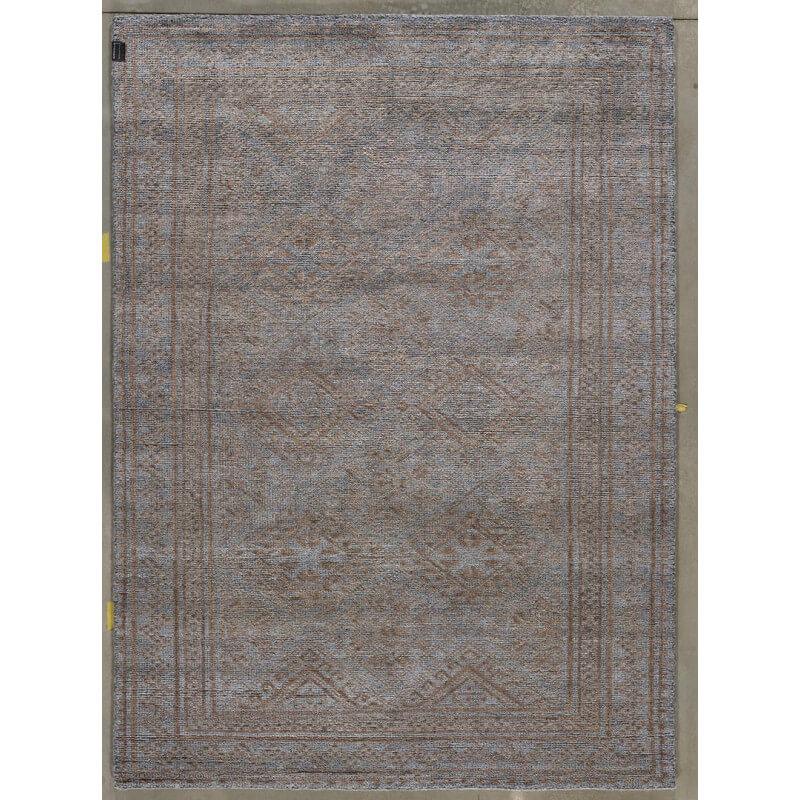 tapis vintage en laine et bambou nou main gris anthracite et caf legacy angelo. Black Bedroom Furniture Sets. Home Design Ideas