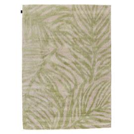 Tapis en viscose contemporain tufté main beige et vert clair Tropics Angelo