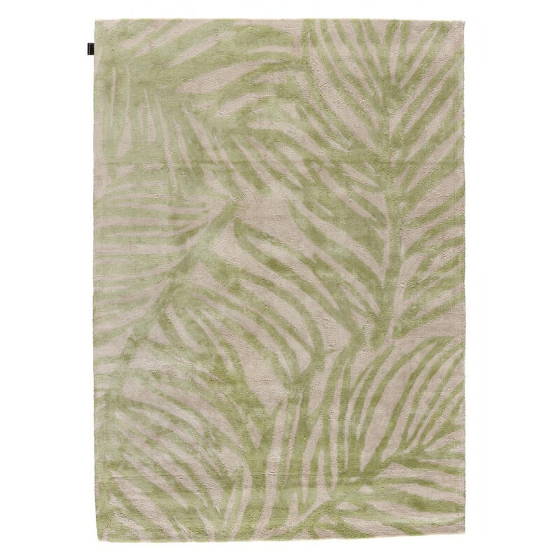 tapis en viscose contemporain tuft main beige et vert clair tropics angelo. Black Bedroom Furniture Sets. Home Design Ideas