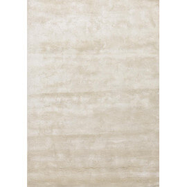 Tapis en bambou design pour salon tufté main blanc Bamboo Angelo