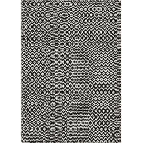 Tapis en laine de Nouvelle-Zélande design noir Mic-Mac Angelo