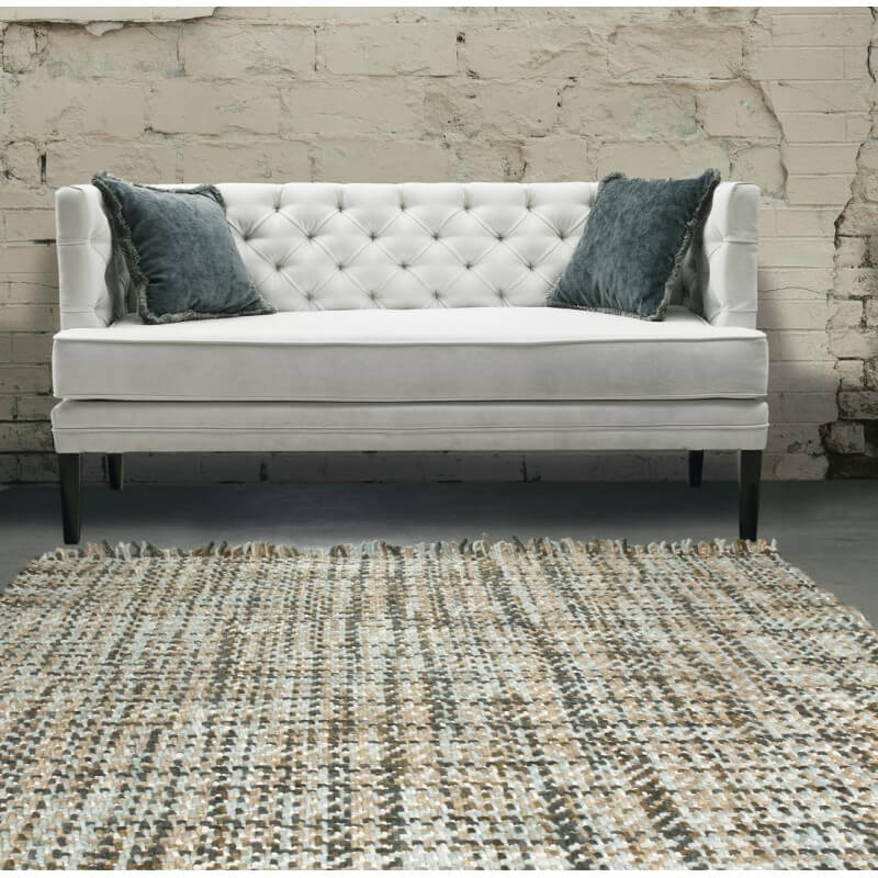 tapis plat en laine tiss main beige et ardoise style vintage morrison angelo. Black Bedroom Furniture Sets. Home Design Ideas