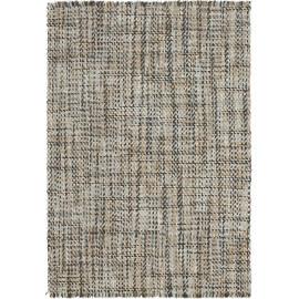 Tapis plat en laine tissé main beige et ardoise style vintage Morrison Angelo