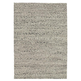 Tapis design en laine tissé main gris clair Waves Angelo