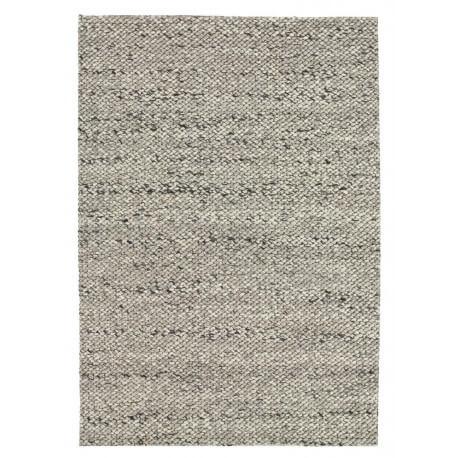 Tapis design en laine tissé main gris clair Waves Angelo