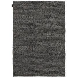 Tapis design en laine tissé main gris foncé Waves Angelo
